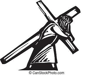 cristo, y, cruz