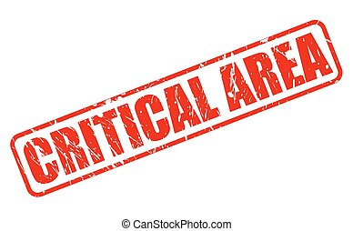 CRITICAL AREA RED STAMP TEXT