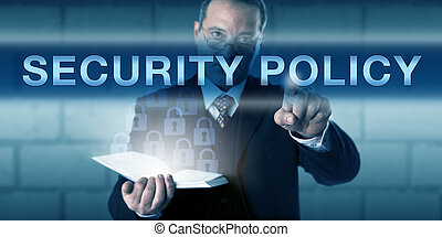 Critical CISO Pushing SECURITY POLICY - CISO with a critical...