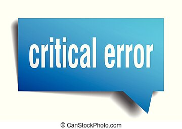 critical error blue 3d speech bubble