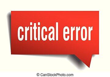 critical error red 3d speech bubble