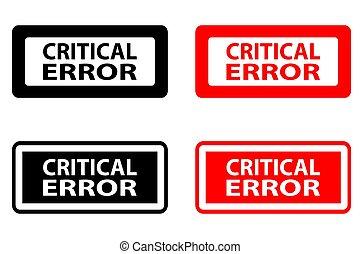 Critical error  - rubber stamp