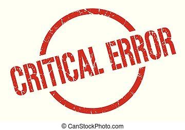critical error stamp