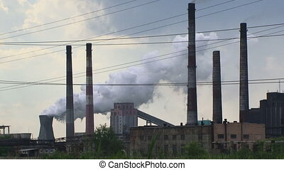 Critical process industry - Factory pollutes the environment...
