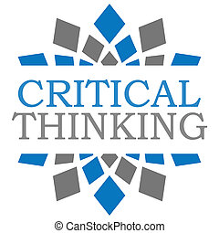 Critical Thinking Blue Grey Squares