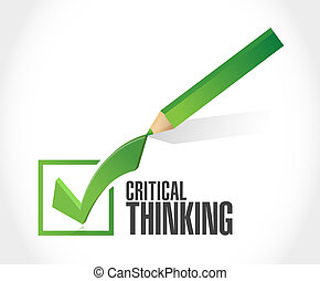 Critical Thinking check mark sign illustration design ...