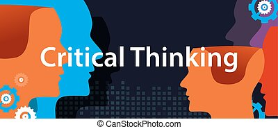 critical thinking concept of creative solution head brain storm problem solving