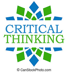 Critical Thinking Green Blue Square