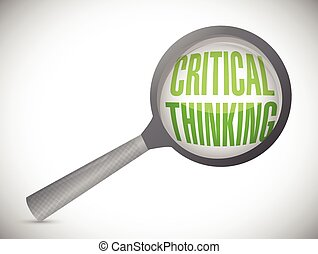 critical thinking review. magnify concept illustration...