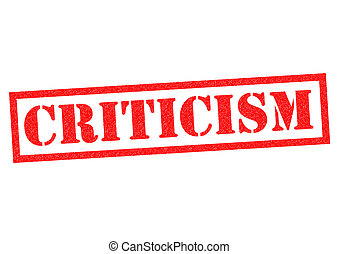 CRITICISM red Rubber Stamp over a white background.