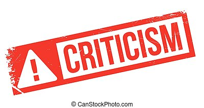 Criticism rubber stamp