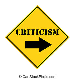 Criticism that way Sign