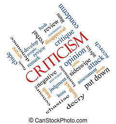 Criticism Word Cloud Concept Angled