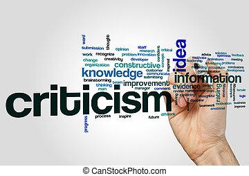 Criticism word cloud