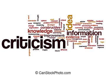 Criticism word cloud concept