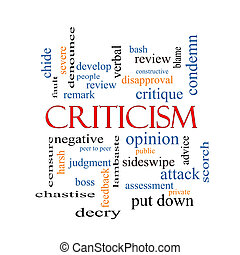 Criticism Word Cloud Concept with great terms such as ...