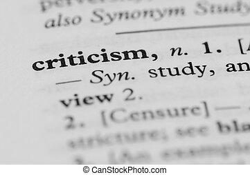 critique, dictionnaire, -, série