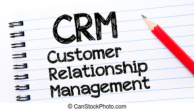 CRM acronym as Customer Relationship Management
