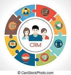 Crm Concept Illustration