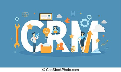 CRM concept illustration. Idea of business and technology.