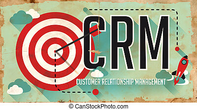 CRM Concept. Poster in Flat Design. - CRM Concept. Poster on...