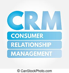 CRM - Consumer Relationship Management acronym, business ...