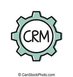 CRM (Customer Relationship Management) business concept - ...