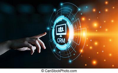 CRM Customer Relationship Management Business Internet...