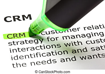 Customer relationship management - 'CRM' - Customer...