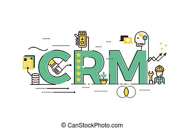 crm concepts Business concepts, hand sign with crm or customer... eps vector ...
