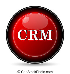 CRM icon. Internet button on white background.