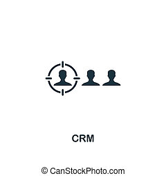 Crm icon. Premium style design from business management icon collection. Pixel perfect Crm icon for web design, apps, software, print usage