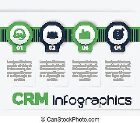 CRM infographics, 1, 2, 3, 4 steps, timeline - CRM ...
