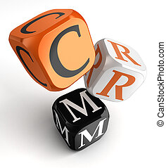 Crm orange black dice blocks - Customer Relationship...