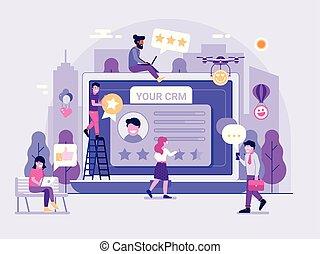CRM Service Platform Illustration
