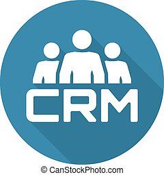 CRM System Icon. Flat Design. - CRM System Icon. Business...