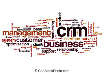 CRM word cloud concept