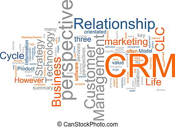 CRM word cloud - Word cloud concept illustration of CRM...