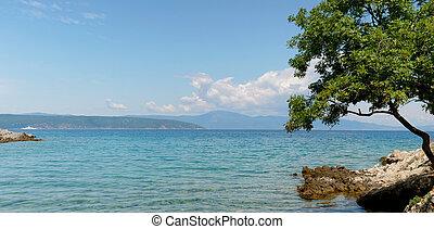 croácia, praia, mar adriático
