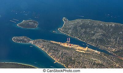 croacia, vista aérea