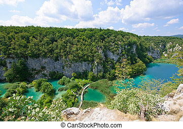 croat, plitvice, seen, park, national