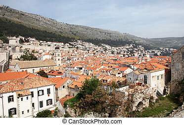 croatia, 光景, 都市, 古い, dubrovnik