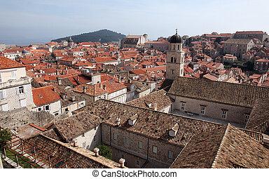 croatia, 古い, 修道院, 都市, dubrovnik, franciscan