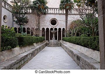 croatia, 回廊, dubrovnik, 修道士, マイナー, 修道院, franciscan
