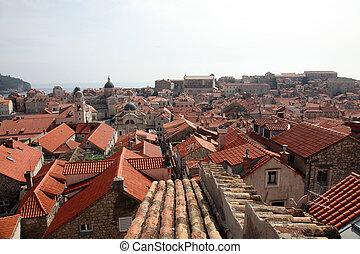 croatia, 都市, dubrovnik, 古い, 光景