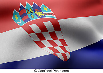 Croatia 3d flag
