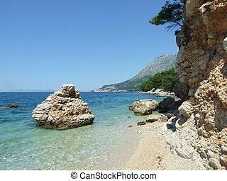 Croatia bay in summer. Makarska riviera
