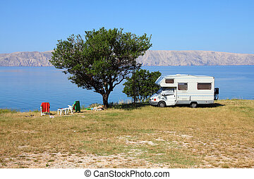 Adriatic Sea camping - Croatia - beautiful Mediterranean...