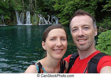 Croatia couple selfie