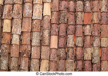 croatia, dubrovnik, 典型的, 屋根, 都市, 古い